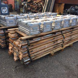 RoRo scaffolding in boxes