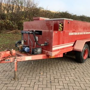 Mobile Water/ Fire Trailer with tank/ pump/hoses